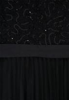 MILLA - Lace bardot maxi dress-black