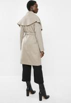MILLA - Shawl collar coat - oatmeal