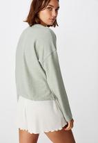 Cotton On - Super soft draw cord crew - green