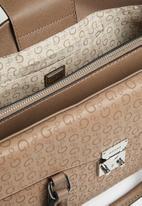 GUESS - Hutton satchel - brown