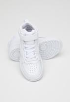 Nike - Boys nike court borough mid 2 - white