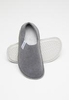 Crocs - Classic convertible slipper - charcoal & pearl white