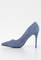 Jada - Faux suede court - blue