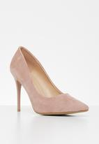 Jada - Faux suede court - pink