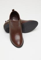 Jada - Side zip bootie - dark brown