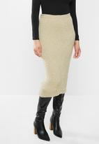 Glamorous - Knitted pencil skirt - oatmeal