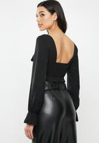 Glamorous - Sweetheart blouse - black