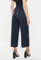 Glamorous - Linen wide leg trousers - navy