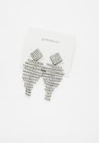 Superbalist - Lucie statement studded earrings - silver
