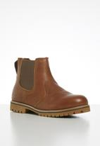 JEEP - Heavy cleat leather chelsea boot - tan