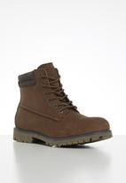 JEEP - Leather ruggered boot - brown