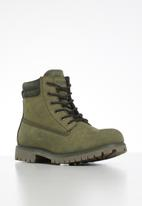 JEEP - Leather ruggered worker  boot - olive