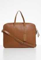 FSP Collection - Briefcase dakota leather bag - fudge