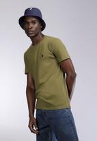 POLO - Mens Lucas plain crew neck T-shirt - olive