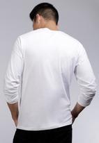 POLO - Mens Paul long sleeve crew neck T-shirt - white