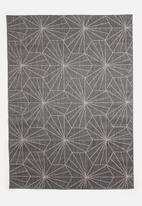 Hertex Fabrics - Hexter woven outdoor rug - gunmetal
