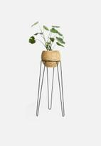 Sixth Floor - Banjar standing planter - black & brown