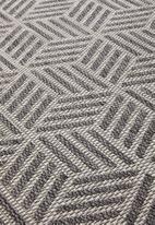 Hertex Fabrics - Hextic woven outdoor rug - flint