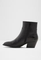 ALDO - Agroacia leather boot - black