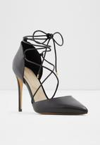 ALDO - Finsbury leather heels - black