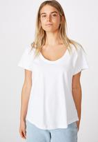 Cotton On - The one scoop tee - white