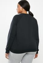 Nike - Curve essential crew fleece - black