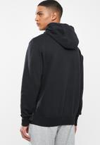 Nike - Nsw club pullover  hoodie - black & white