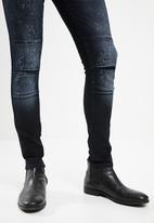 S.P.C.C. - Shotgun fashion trench jeans - blue