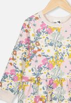 Cotton On - Angie long sleeve dress - multi