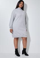 Superbalist - Cutline highneck fleece dress - grey