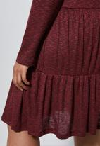 Superbalist - Trapeze dress(plus) - burgundy