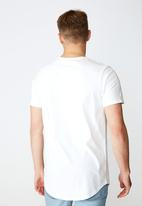 Factorie - Forever curved graphic T-shirt - white