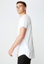 Factorie - Nothing to lose curved graphic T-shirt - white