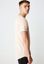 Factorie - Love hate curved graphic T-shirt - peach