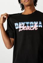 Factorie - Daytona beach regular graphic T-shirt - black