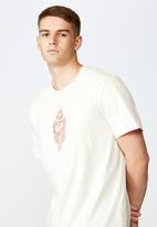 Factorie - Bad heart regular graphic T-shirt - cream