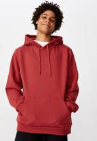 Factorie - Basic hoodie - red