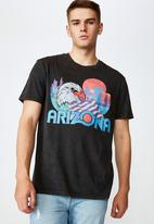 Factorie - Arizona regular graphic T-shirt - washed black