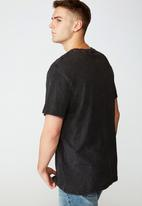 Factorie - New York liberty regular graphic T-shirt - washed black
