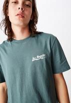 Factorie - Los Angeles lightning regular graphic T-shirt - green