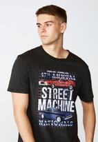 Factorie - Street machine regular graphic T-shirt - washed black