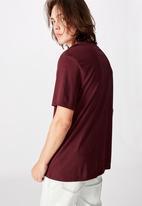 Factorie - Enemies regular graphic T-shirt - burgundy