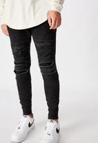 Factorie - Semi cuffed denim jean - washed black