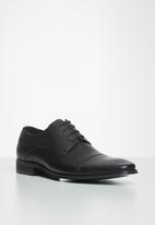 POLO - Mike toe cap lace up formal - black