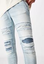 Factorie - Semi cuffed denim jean - blue