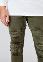 Factorie - Semi cuffed denim jean - khaki