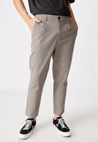 Factorie - Relaxed tapered leg pant - york check