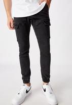 Factorie - Utility pocket jean - washed black