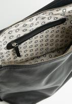 FSP Collection - Hoop slouch dakota leather bag - black