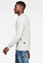 G-Star RAW - Chest logo sweater - white